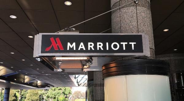 東京マリオットホテルのエントランス前