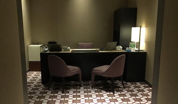 東京マリオットホテルのエリート専用カウンター