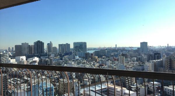 東京マリオットホテルのデラックスルームからの景色