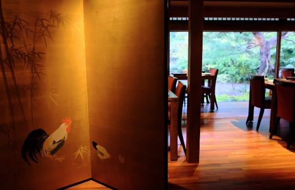 翠嵐のレストラン「京 翠嵐」の入り口