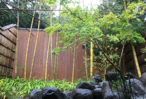 翠嵐の貸切露天風呂「庵」からの景色