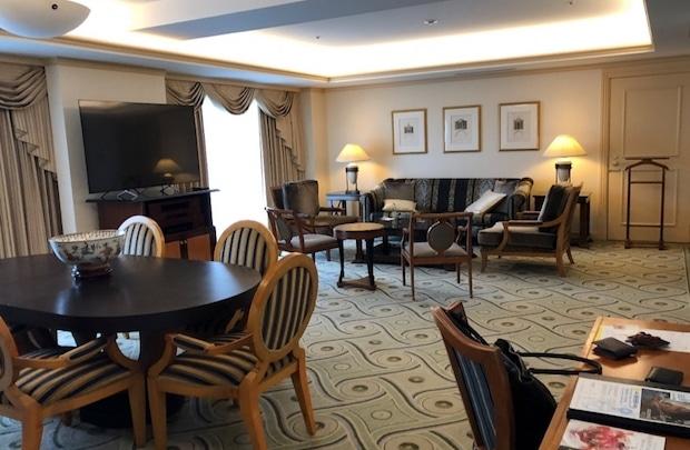 ウェスティンホテル東京のスイートルーム