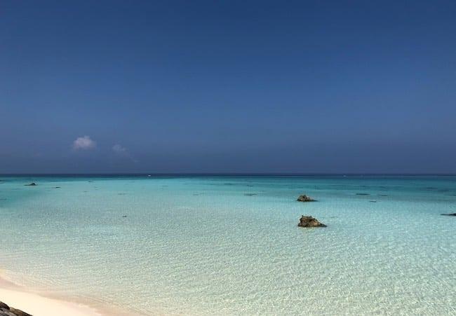 下地島空港17エンド周辺のビーチ