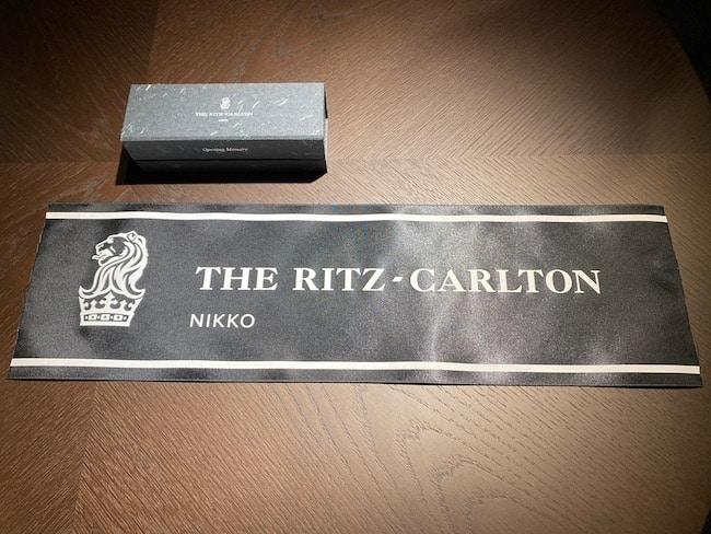 ザ・リッツ・カールトン日光のオープニング・テープの一部