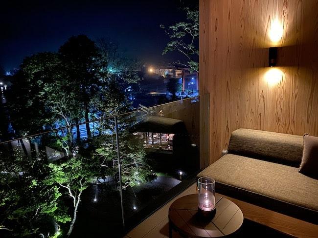 中禅寺湖ビューの夜景
