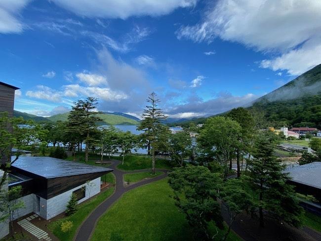 中禅寺湖ビュー・メイン棟4階の景観(晴れ)