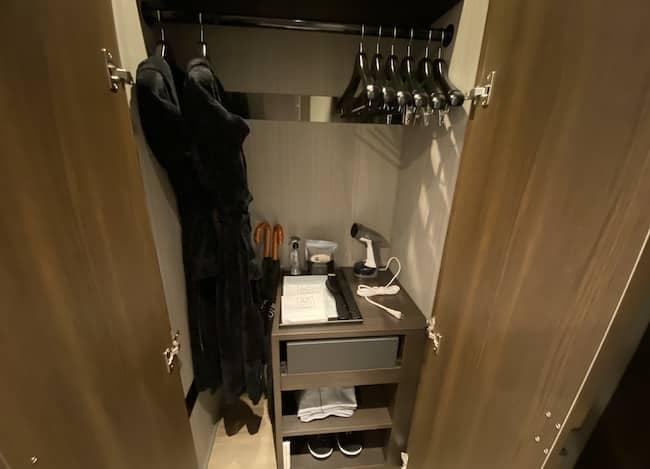 ACホテル東京銀座のクローゼット
