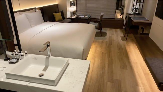 ACホテル東京銀座のスーペリアルームの水回り