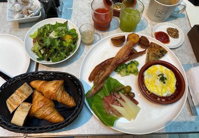 ACホテル東京銀座の朝食・洋食プレート