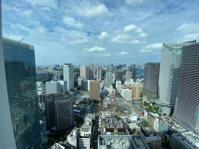 東京エディション虎ノ門の最上階プレミアルームからの景観